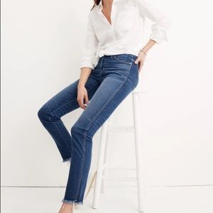 Madewell Slim Straight Jeans: Raw Hem Addition